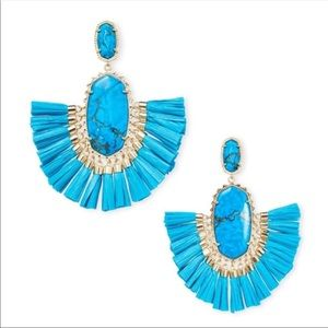 NWOT Kendra Scott Aqua Howlite Cristina Earrings